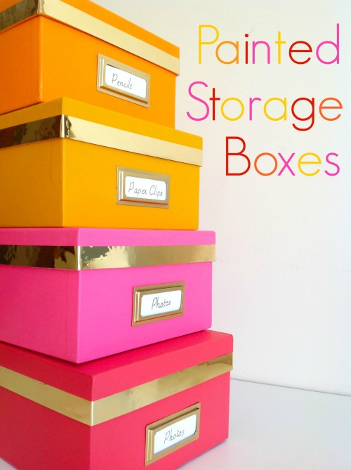 Painted Storage Boxes