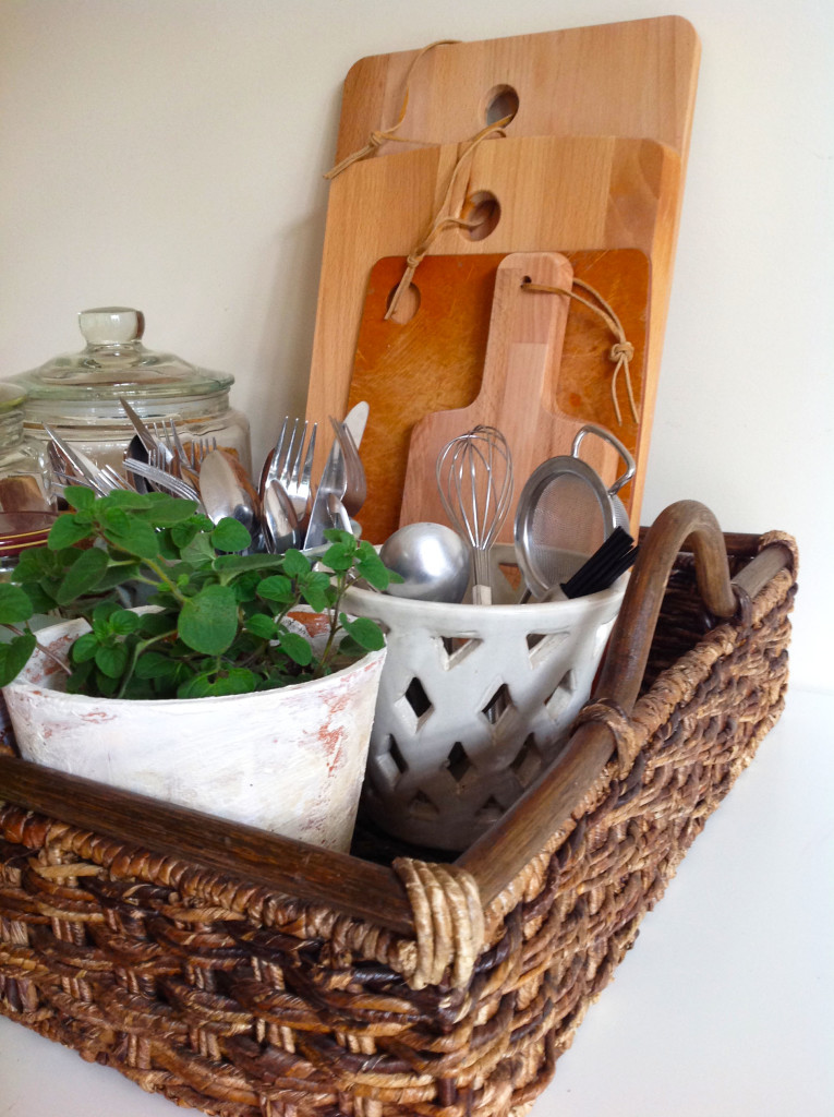 A Little Kitchen Organization: Everything In A Tray!
