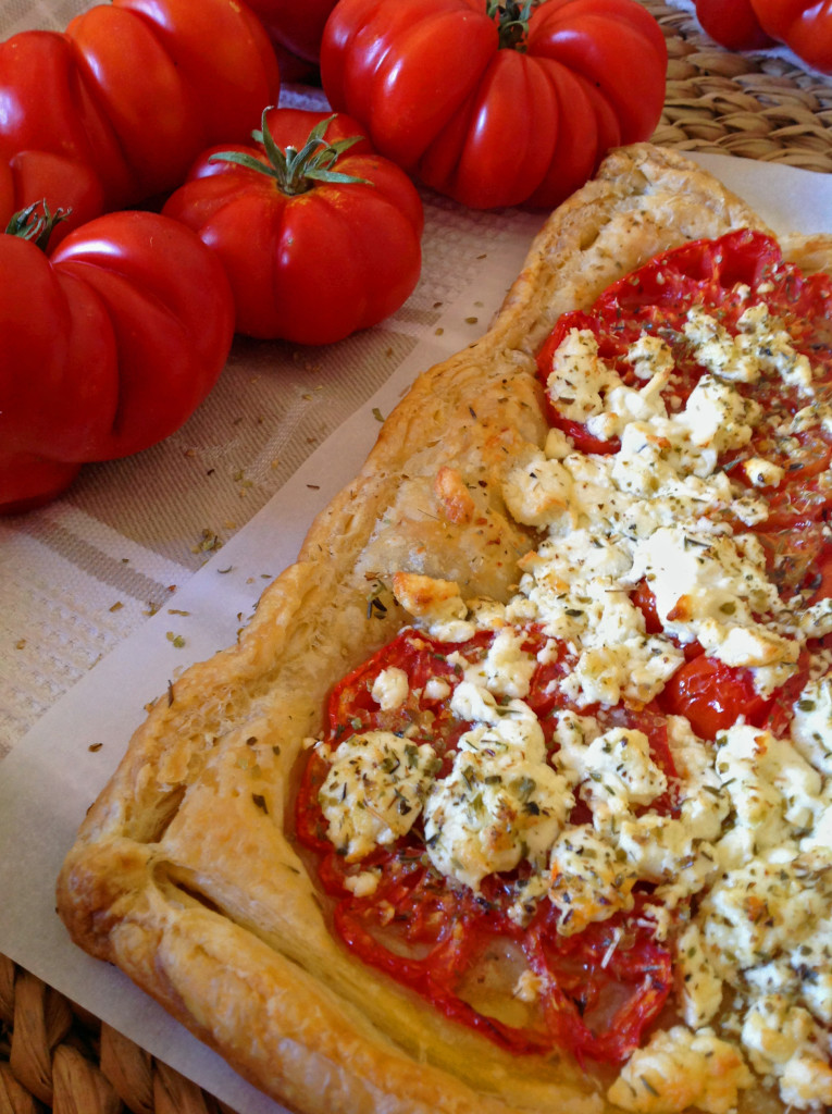 Easy Heirloom Tomato & Goat Cheese Tart