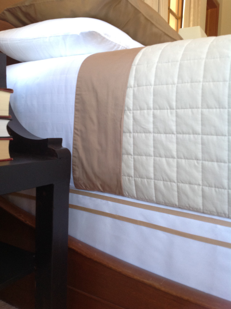 How To Cover A Box Spring (With A Hotel-Bedding-Style Detail)