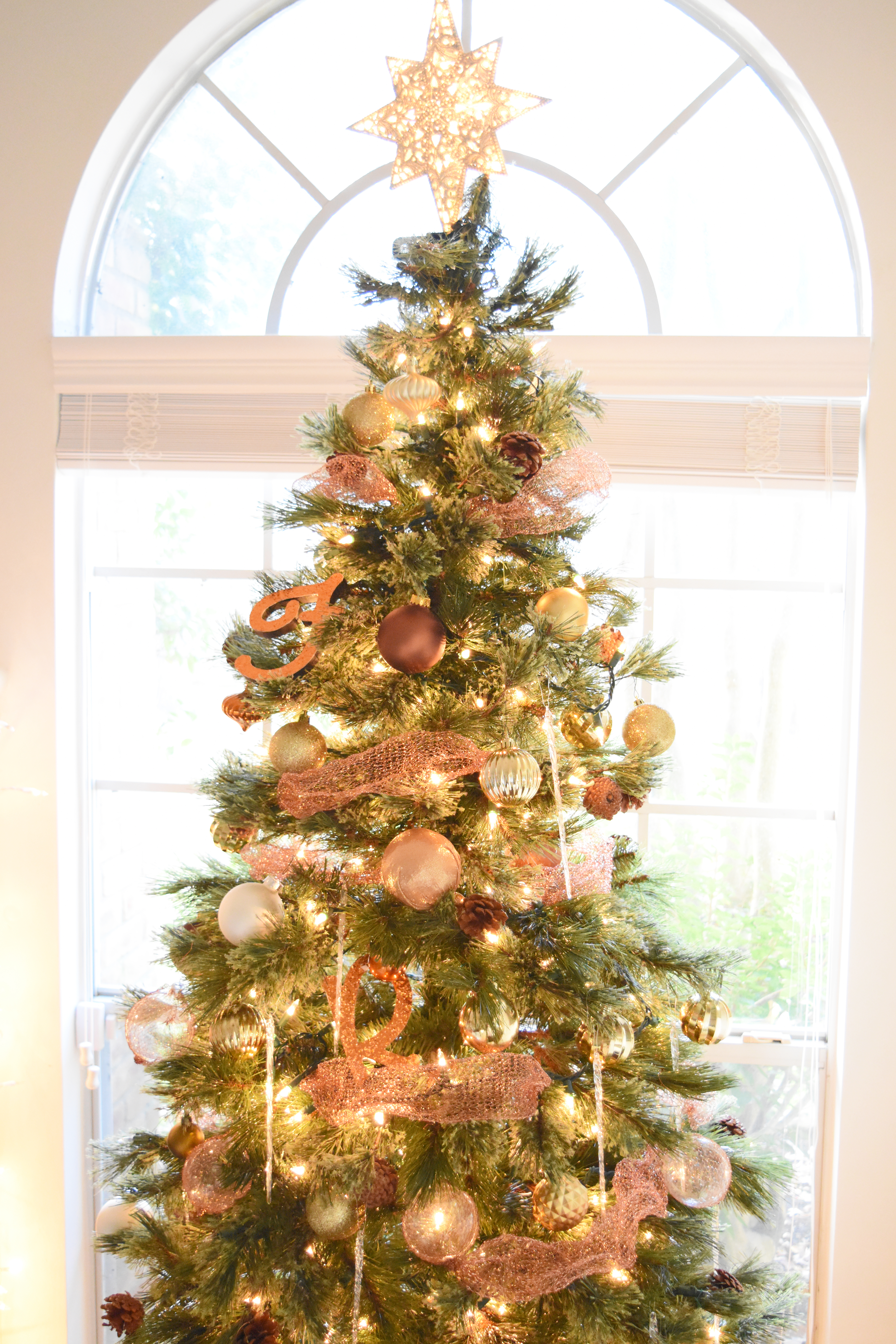 Diy Copper Mesh Garland For Your Christmas Tree Once Again My Dear Irene